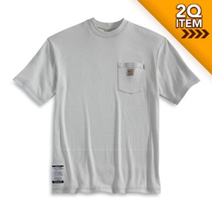 Flame Resistant Short Sleeve T-Shirt in Gray