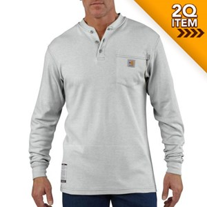 Carhartt Flame Resistant Henley Shirt in Grey