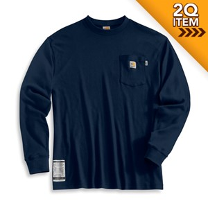 Carhartt Long-Sleeve FR T-Shirt in Navy Blue