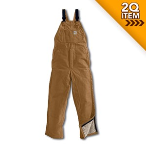 Midweight Flame Resistant Bib Overall in Carhartt Brown