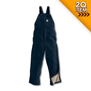 Flame Resistant Midweight Bib Overalls in Navy Blue