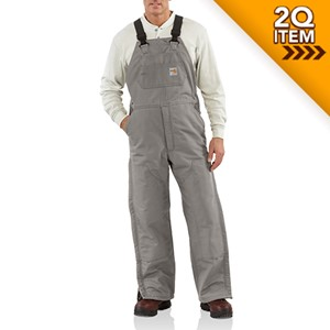 Insulated Flame Resistant Bib Overall in Steel