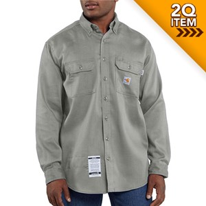 Moisture Wicking Twill Shirt in Gray
