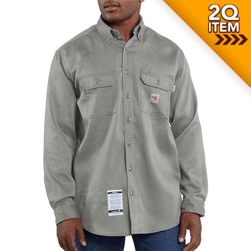 Moisture Wicking Twill Shirt in Gray