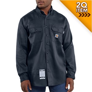 Carhartt FR Moisture Wicking Shirt in Navy Blue