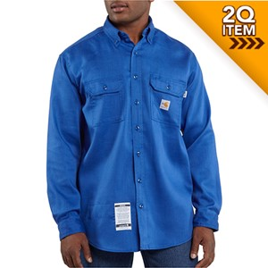 Carhartt Flame Resistant Moisture Wicking Shirt in Royal Blue
