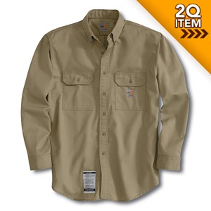 Carhartt Flame Resistant Twill Shirt in Khaki