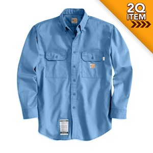 Carhartt Twill FR Work Shirt in Medium Blue