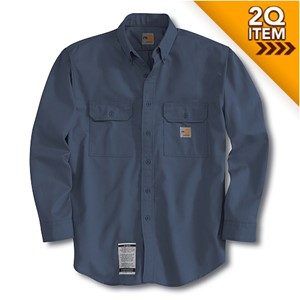 Carhartt Flame Resistant Twill Shirt in Navy Blue