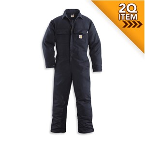 Carhartt Flame Resistant Coverall in Navy