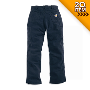 Women's Flame Resistant Canvas Work Pant in Navy
