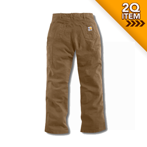 Women's Flame Resistant Canvas Work Pant in Khaki