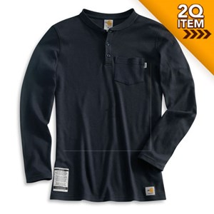 Womens Flame-Resistant Long-Sleeve Henley
