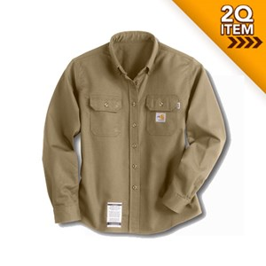 Carhartt Womens FR Twill Shirt in Khaki