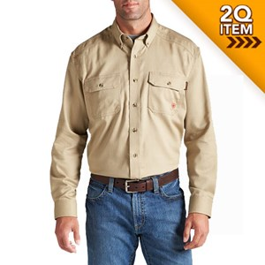 Ariat FR Solid Work Shirt in Khaki