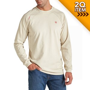Ariat FR Long Sleeve Work Crew in Sand