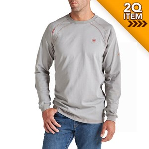 Ariat FR Long Sleeve Work Crew in Silver
