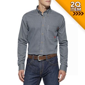 Ariat FR Plaid Work Shirt in Blue Multi