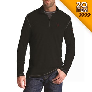 Ariat FR Polartec 1/4 Zip Baselayer in Black