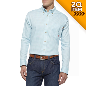 Ariat FR Tioga Work Shirt in Aqua
