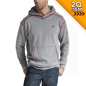 Ariat FR Work Tek Pullover Hoodie in Heather Gray