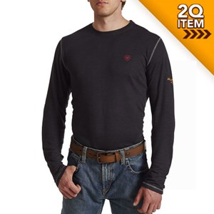 Ariat FR Polartec Baselayer Shirt in Black