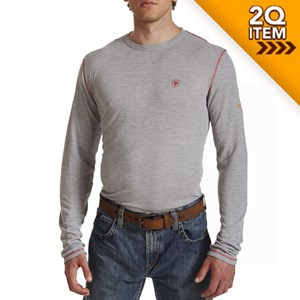 Ariat FR Polartec Baselayer Shirt in Light Gray