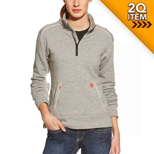 Women's FR Polartec 1/4-Zip Fleece in Gray
