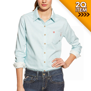 Women's FR Tioga Work Shirt in Aqua