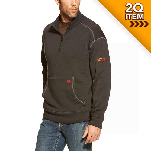 Ariat FR Polartec 1/4 Zip Fleece in Black