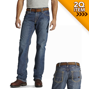 Ariat FR M4 Low Rise Boot Cut Jeans in Clay