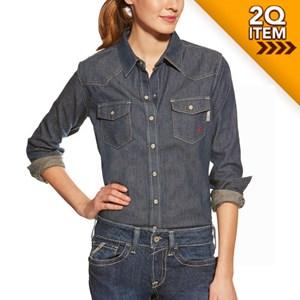 Women's FR Western Denim Snap Shirt