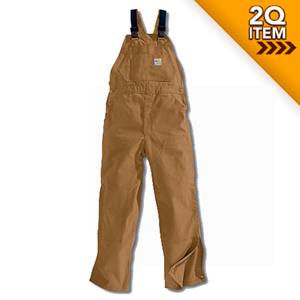 Carhartt Unlined Flame Resistant Bib Overall in Carhartt Brown