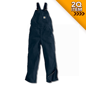 Carhartt Unlined Flame Resistant Bib Overall in Navy