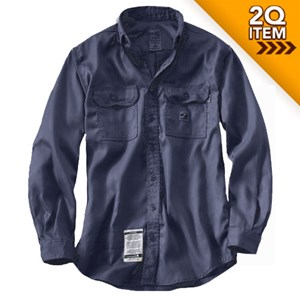 Carhartt HRC 1 FR Work Shirt in Navy