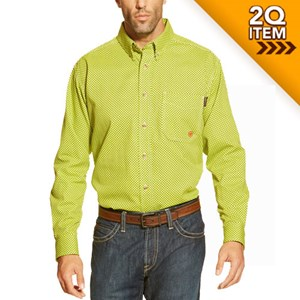 Ariat FR Field Work Shirt in Lime