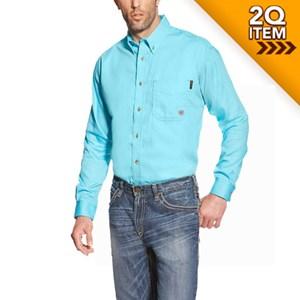 Ariat FR Block Work Shirt in Turquoise