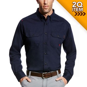 Ariat FR Solid Work Shirt in Navy