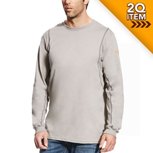 FR AC Crew Long Sleeve Shirt in Silver Fox
