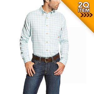 Ariat FR Rockford Work Shirt in Sky