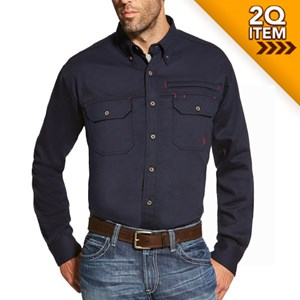 Ariat FR Solid Vent Shirt in Navy