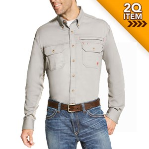 5eec0fad Ariat FR Solid Vent Shirt in Silver Fox