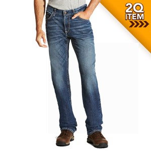 Ariat FR M4 Low Rise Boot Cut Jean with Stretch in Alloy