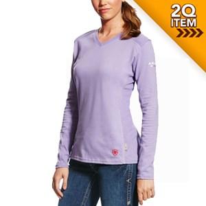 Ariat Ladies FR AC Top in Purple Noon