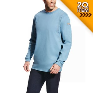 FR AC Long Sleeve Shirt in Steel Blue