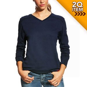 Ariat Ladies FR AC Top in Navy