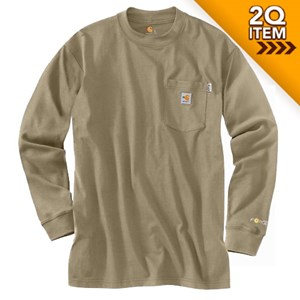 Carhartt FR Force Long Sleeve Shirt in Khaki