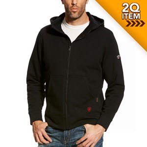 Ariat FR Full Zip Hoodie in Black