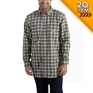 Carhartt Flame Resistant Plaid Shirt in Gray