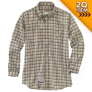 Carhartt Flame Resistant Plaid Shirt in Khaki